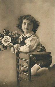 Lovely girl early greetings card