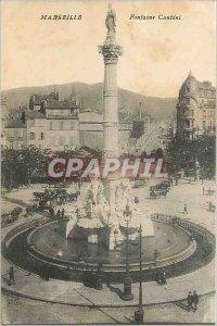 Old Postcard Marseille Fontaine Cantini