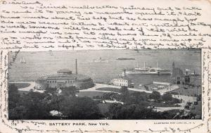 Battery Park, New York, N.Y., Early Postcard, Used in 1908