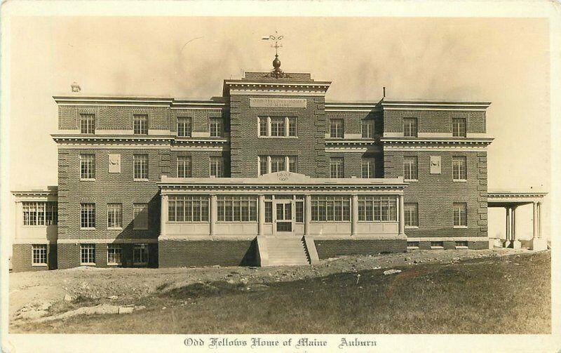 Abbott Auburn Maine 1920s Odd Fellows Home RPPC Photo Postcard 2911