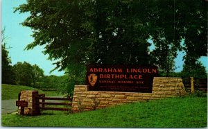 Postcard Birth Place Abraham Lincoln Kentucky KY Vintage Entrance National Site