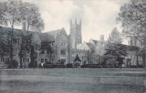 Virginia Durham Chapel Spire Union Dormitory Duke University Albertype