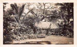 Little Grass Shack, Hawaii, Early Real Photo Postcard, Used in 1948