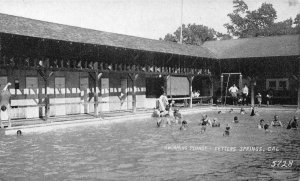 Swimming Pool FETTERS SPRINGS, CA Agua Caliente Sonoma c1910s Vintage Postcard