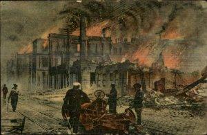 Salonica Salonique Greece Fire Disaster c1910 Postcard