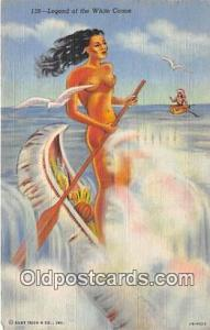 Legend of the White Canoe  Postcard Post Card  Legend of the White Canoe
