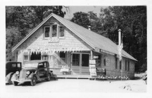 RPPC Grays Souvenirs IDYLLWILD, CA General Store Roadside 1940s Vintage Postcard