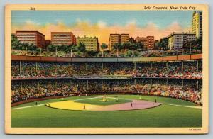 New York City~Polo Grounds Stadium~Giants Baseball~Demolished 1964~1947 Linen PC