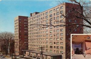 Syracuse New York~The Skyline Luxury Apartments~James Street~1950s Postcard