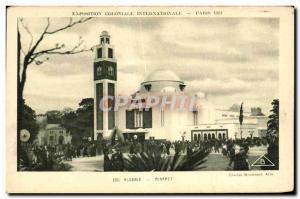 Old Postcard International Colonial Exposition Paris 1931 Algeria Minaret