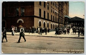 East Pittsburgh~Workers Headed Home~Westinghouse Electric~Covered Step/Ramp 1910