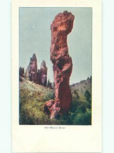 Unused Pre-1907 MAJOR DOMO ROCK AT GLEN EYRIE CASTLE Colorado Springs CO Q1663