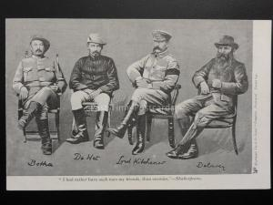 Boer War: Botha, De Wet, Lord Kitchener, De La Ray c1900 UB Tuck Empire Series
