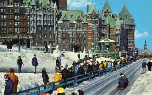 Canada - Quebec, Quebec City. Dufferin Terrace Toboggan Slide