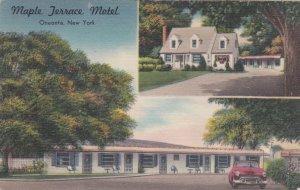 New York Oneonta Maple Terrace Motel 1954 sk950