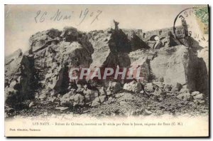Old Postcard Les Baux Ruins of Chateau built in the X century by Pons the You...