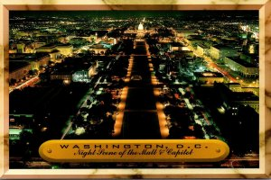 Washington D C The Mall and Capitol At Night
