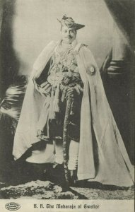 india, Maharaja of Gwalior, Madhavrao II Scindia (1920s) Postcard