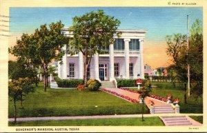 Texas Austin Governor's Mansion 1942 Curteich