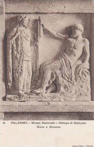 Italy Palermo Museo Nazionale Metope di Selinunte Giove e Giunone
