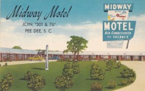 South Carolina Pee Dee Midway Motel Junction Highways 301 & 76 sk764