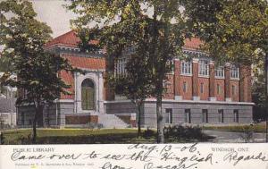 Exterior, Public Library, Windsor, Ontario, Canada, PU-1906