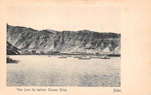 Yemen Aden, View from the harbour Steamer Point, I. Benghiat & Son, Turkish Shop