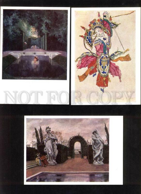 048823 Art Nouveau by SOMOV & BENOIS collection of 16 Cards
