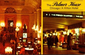 Illinois Chicago The Palmer House Lobby and Shopping Arcade