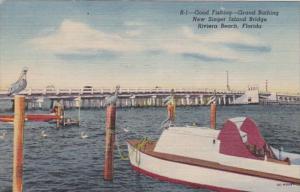 Florida Riviera Beach New Singer Island Bridge 1956 Curteich