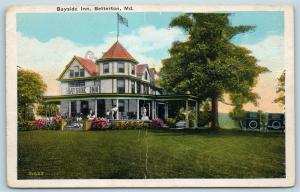 Postcard MD Betterton c1920s View of Bayside Inn S7