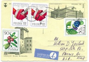 Poland used pre stamp, and more stamps added.  Creased in the middle, but nice.