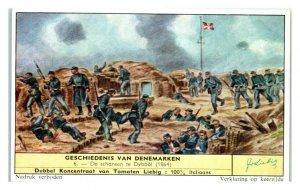 Battle of Dybbol, History of Denmark Liebig Belgian Trade Card