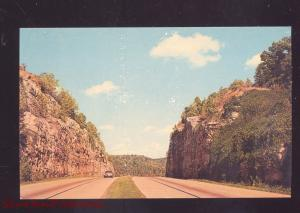 ROUTE 66 HIGHWAY THROUGH THE OZARKS IN MISSOURI VINTAGE POSTCARD MO.