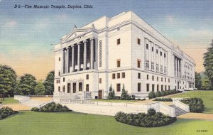 Masonic Temple , DAYTON , Ohio , PU-1953