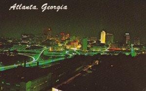 Georgia Atlanta Skyline At Night