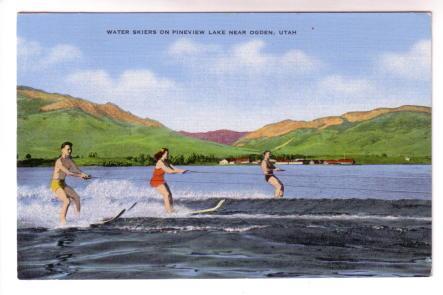 Water Skiers, Pineview Lake, Ogden Utah