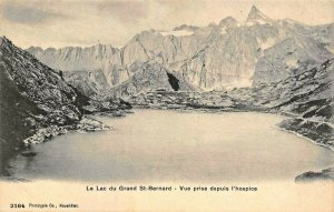 VALAIS SWITZERLAND~LAC GRAND ST BERNARD-VUE PRISE DEPUIS HOSPICE~PHOTO POSTCARD