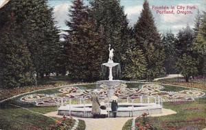 Fountain In City Park Portland Oregon