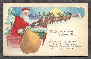 dc329 - CHRISTMAS Greeting 1924 SANTA CLAUS. Canada