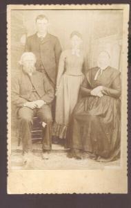 REAL PHOTO CABINET CARD OURAY COLORADO ROESCH FAMILY WOMEN DRESS