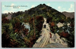 Panhandle* (Jackson, Russell Co) Kentucky River~Train Ascends Mountain c1910