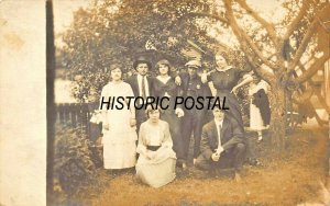 GROUP OF PEOPLE-STYLISH PERIOD CLOTHES~1910s REAL PHOTO POSTCARD