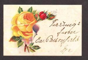 ME Greetings from EAST PARSONFIELD MAINE Postcard Roses