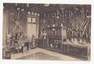 France Gonneville La Mallet Hotel Aubourg Armory Salle D'Armes Vtg Postcard