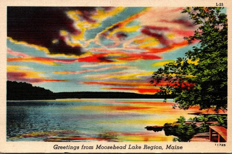 Maine Greetings From Moosehead Lake Region