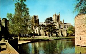 England Wells The Cathedral and Moat