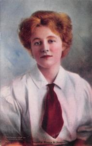 Margueritte B Frey~Signed~Most Beautiful Woman~White Shirt~Red Tie~1907~#3400