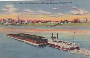 Tennessee Memphis Federal Barg Line Entering Memphis Terminals