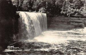 LPM54 Newberry Tahquamenon Falls  Michigan RPPC Postcard